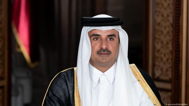 Scheich Tamim bin Hamad al-Thani, Staatsoberhaupt des Emirats Katar. (Foto: Picture-Alliance/ dpa)