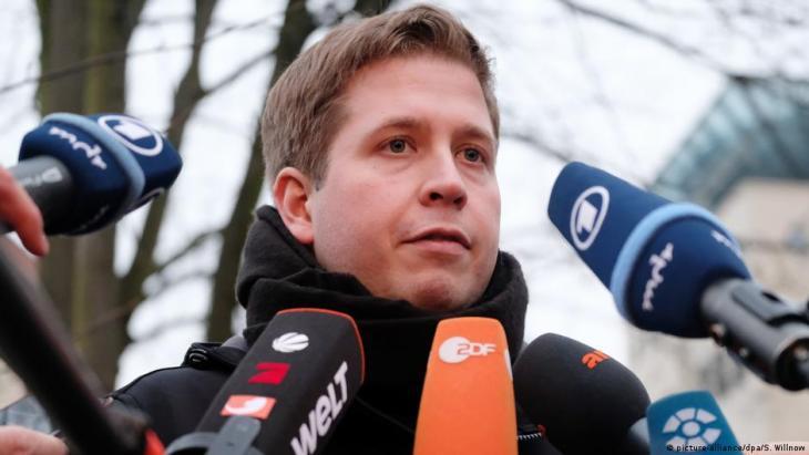 Der Ex-Juso-Vorsitzende Kevin Kühnert ist seit Dezember 2019 stellvertretender Bundesvorsitzender der SPD. (Foto: © picture alliance/dpa/S.Willnow).