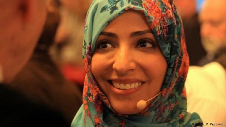 """Jemens """"Mutter der Revolution"""", die Aktivistin Tawakkul Karman, erhielt 2011 den Friedensnobelpreis. Foto: DW/A. M. Pedziwol"""