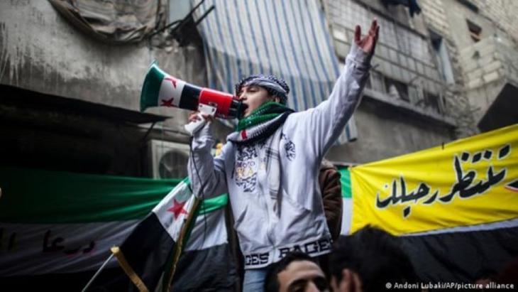 Anti-Regierungsprotest, Syrien, 2011. Foto: Andoni Lubaki/AP/picture-alliance