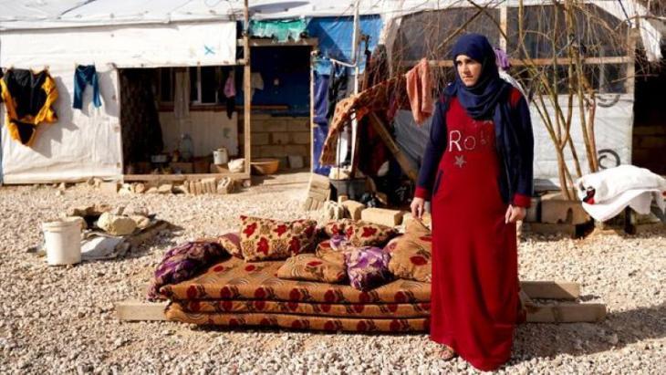 Amal al-Nasir im Hasan-Dabli-Lager. Foto: Andrea Backhaus