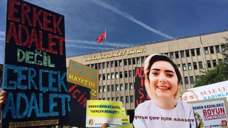 Fall Sule Cet: Proteste von Frauenorganisationen in Ankara. Foto: DW