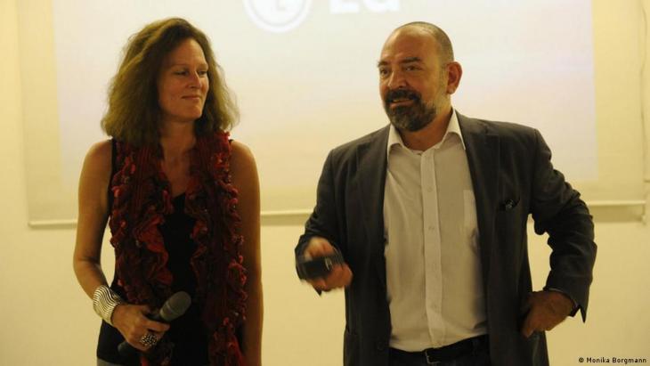 Lokman Slim und seine Frau Monika Borgmann dokumentieren die Attentate; Foto: Monika Borgmann