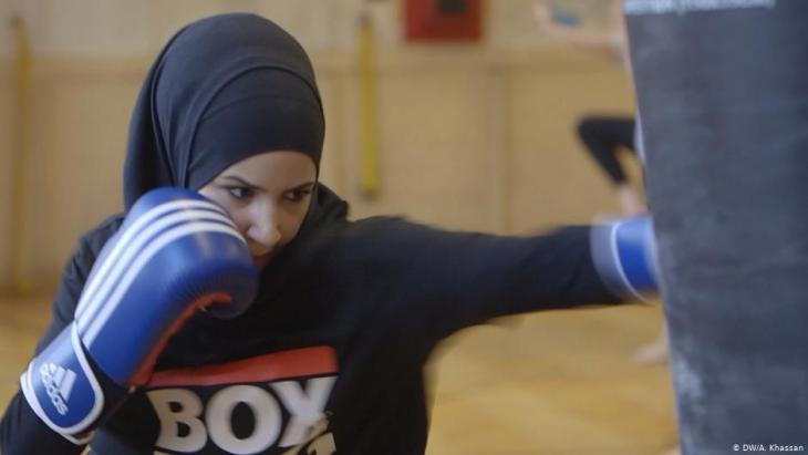 Deutsche Boxerin Zeina Nassar; Foto: DW/A. Khassan