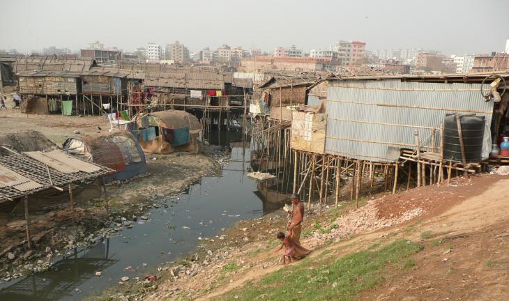 Slum-Siedlung in Dhaka, Bangladesch. Foto: Dominik Muller