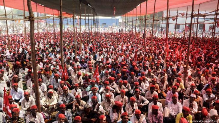 Bauernprotest Indien Mumbai; Foto: picture-alliance/AP Photo