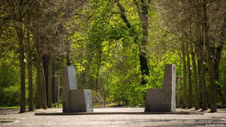 Das Goethe-Hafis-Denkmal in Weimar. (Foto: Imago)