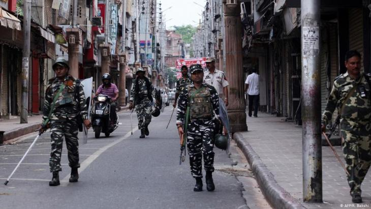 Indische Soldaten in Kaschmir; Foto: AFP/R.Bakshi