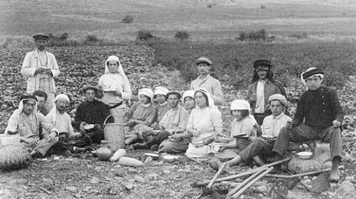 Jüdische Siedler in Palästina in den 1880er Jahren (Quelle: https://orientxxi.info)