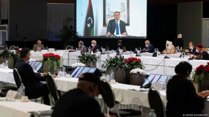 Libyen-Konferenz in Genf, 5. Februar 2021; Foto: United Nations/AFP