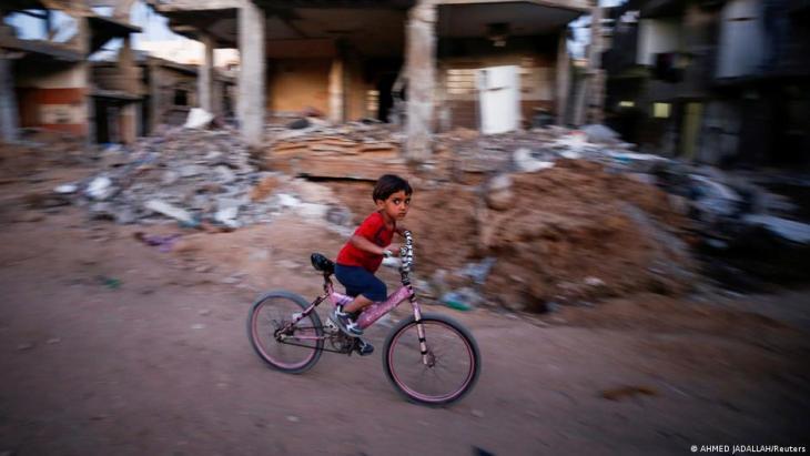 Zerstörungen im palästinensisch bewohnten Gaza - Folge der eskalierenden Gewalt zwischen der Hamas und Israel; Foto: Ahmed Jadallah/Reuters(