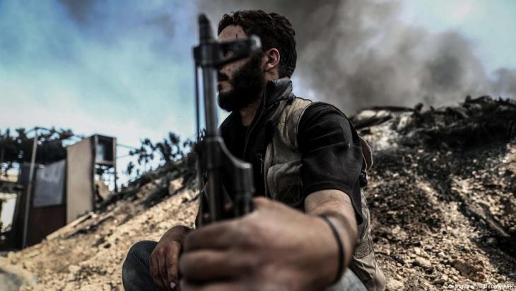 Jaish al Islam-Kämpfer in Duma, Syrien; Foto: AFP