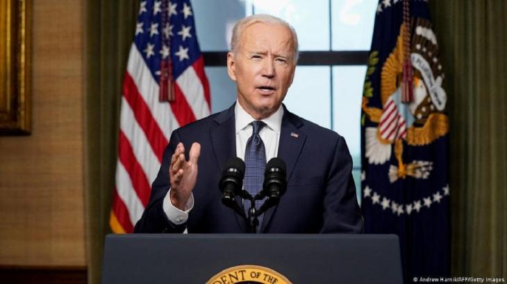 14. April 2021: Joe Biden zog einen Schlussstrich unter Amerikas längsten Krieg. (Foto: Andrew Harnik/AFP/Getty Images).