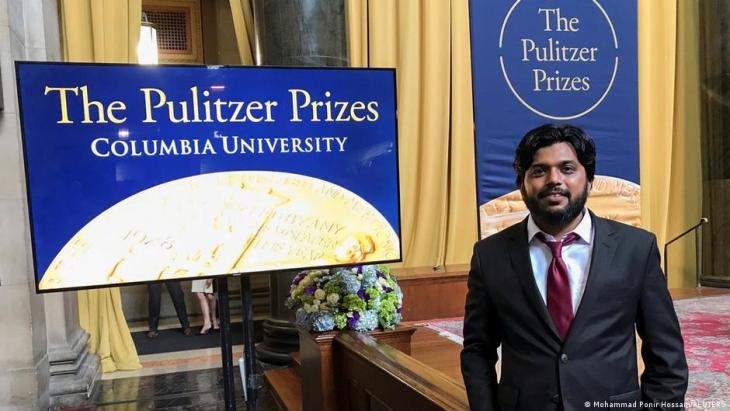 Danish Siddiqui bei der Verleihung des Pulitzer Preises 2018; Foto: Mohammed Ponir Hussain/Reuters