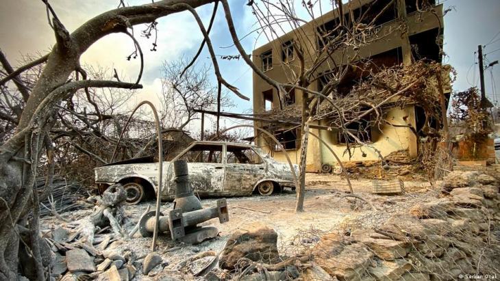 Das Dorf Kalemler in der Provinz Antalya war massiv vom Feuer betroffen; Foto: Serkan Ocal