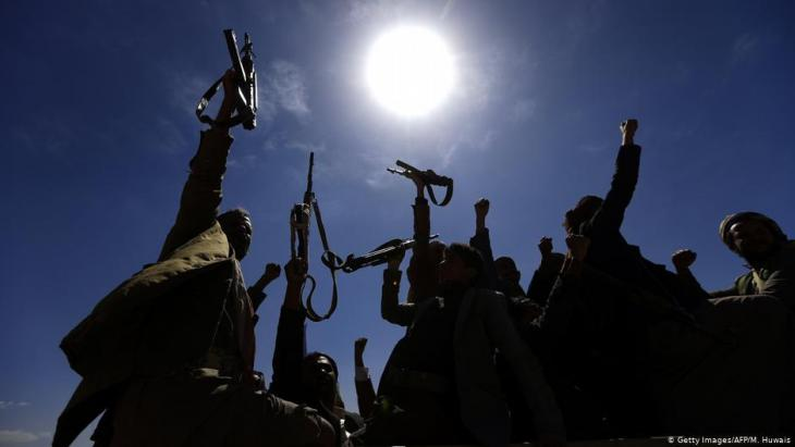 Huthi-Rebellen in Sanaa; Foto: Getty Images/AFP/M.Huwais