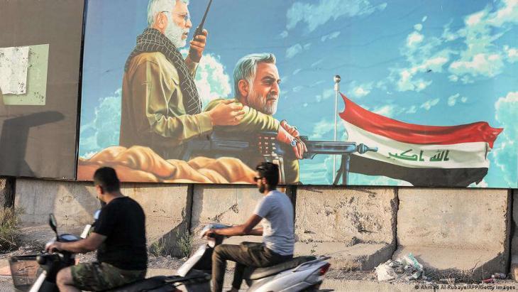 Seit ihrer außergerichtlichen Exekution gelten die Milizen-Kommandeure al-Muhandis und Soleimani vielen Irakern als Volkshelden. (Ahmad Al-Rubaye/AFP/Getty Images)