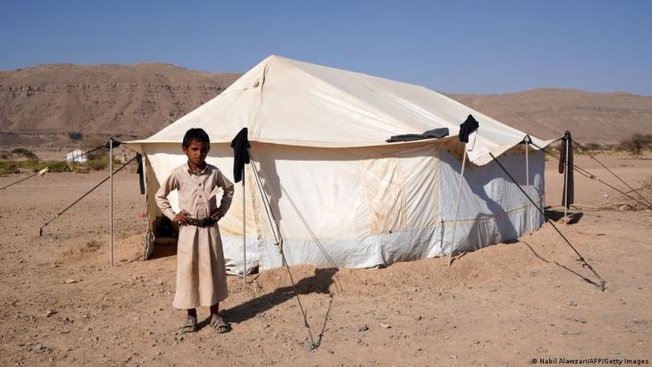 Ein Flüchtlingslager nördlich von Marib; Foto: Nabil Alawzari/AFP/Getty Images