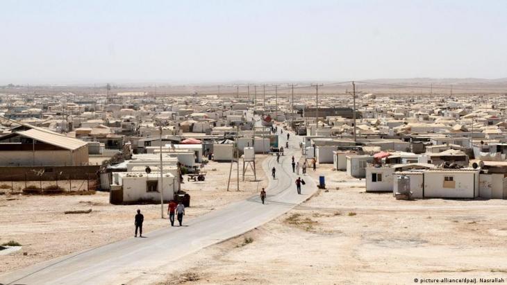 Flüchtlingslager Zaatari in Jordanien; Foto: picture-alliance/dpa/J.Nasrallah