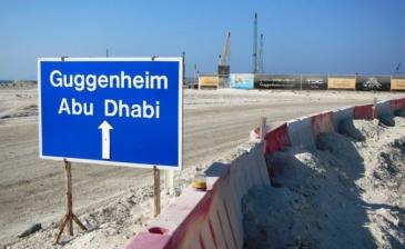 Baustelle des Guggenheim-Museums in Abu Dhabi; Foto: Gulflabour