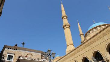 Moschee und Kirche in Beirut; Foto: DW