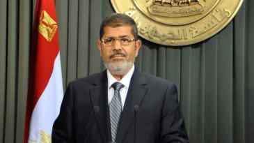 Ägyptens Präsident Mohammed Mursi; Foto: AP