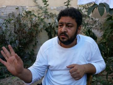 Muntazir, Sprecher der syrischen Flüchtlingsgruppe; Foto: Karim El-Gawhary