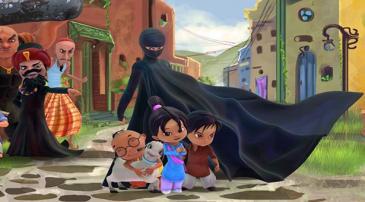 Szene aus Burka Avenger