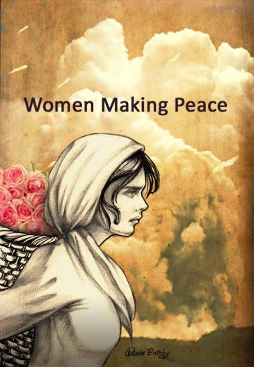 "Illustration von Diala Brisly: ""Women making peace""; Foto: Diala Brisly"