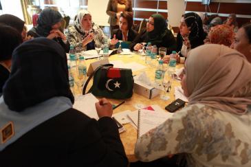 Im November 2011 organisierte Karama und die LWPP ein Seminar zu Frauen in politischen Entscheidungsprozessen im Corinthia Hotel in Tripoli; Foto: Dominique Margot