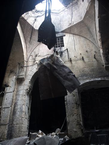 Zerstörung im Basar von Aleppo nach Gefechten im September 2012; Foto: AFP/Getty Images