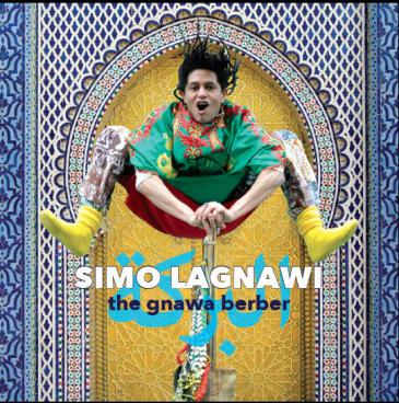 "Cover of Simo Lagnawi's album ""The Gnawa Berber"" (source: Riverboat Records)"