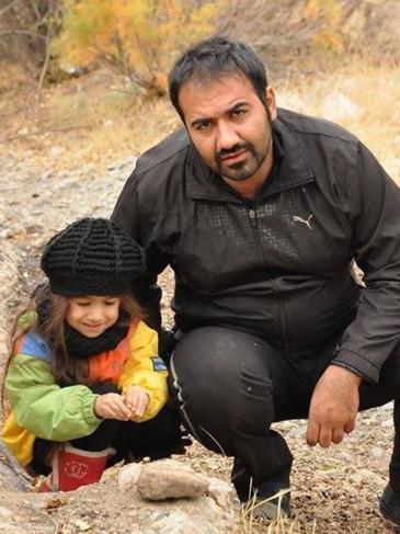 Soheil Arabi und seine Tochter, Foto: Masihian Zendani