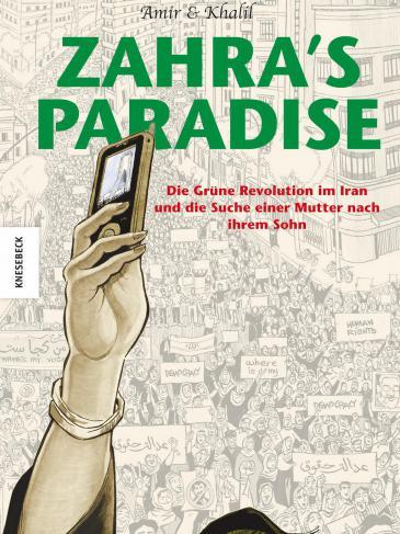 """Buchcover Amir und Khalil: """"Zahra's Paradise"""" im Verlag Knesebeck"""