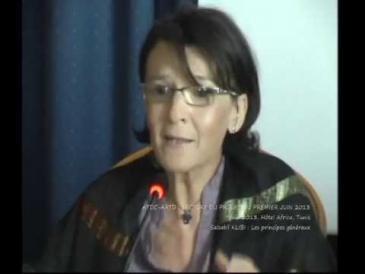Die tunesische Verfassungsrechtlerin Salsabil Klibi; Quelle: youtube