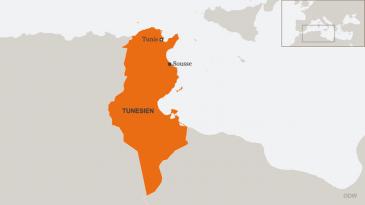Karte Tunesiens. Foto: DW