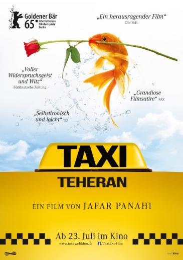 "Filmplakat zu ""Taxi Teheran""."