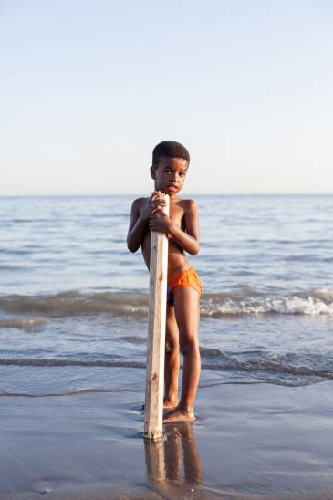 Ein Junge der afro-iranischen Minderheit am Persischen Golf; Foto: Mahdi Ehsaei