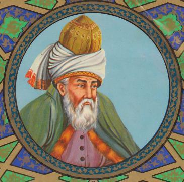 Jalāl ad-Dīn Muhammad Rūmī; Quelle: wikipedia