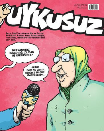 Titelbild einer Ausgabe der Satirezeitschrift Uykusuz