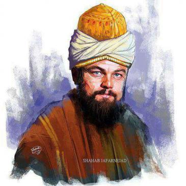 Twitter-Meldung Omidhq: Can you imagine @LeoDiCaprio as #Rumi?