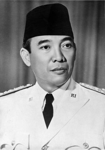 Indonesiens ehemaliger Präsident Sukarno; Foto: wikipedia