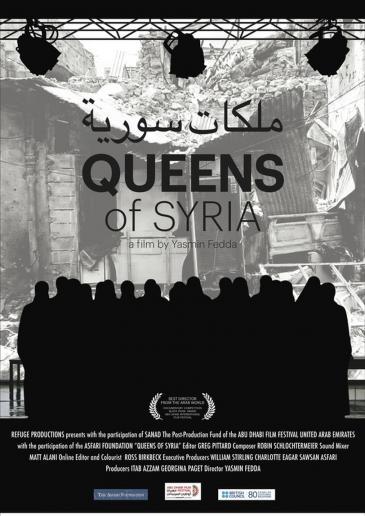 "Kinoplakat des Films ""Queens of Syria""; Regie: Yasmin Fedda"