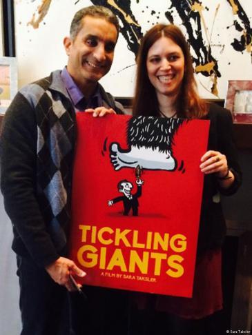 Sara Taksler und Bassem Youssef; Quelle: Sara Taksler