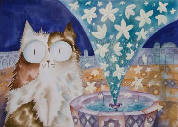 """Eine Illustration von Kaadans ersten Bilderbuch in Englisch: """"The Jasmine Sneeze"""" ; Foto: Lantana publishing"""