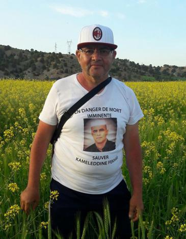 Human rights activist Salah Dabouz on his 400 km march in April (photo: private)