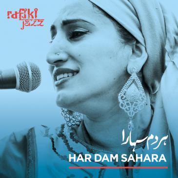 "Cover of Rafiki Jazz' latest album, ""Har Dam Sahara"" (released by Riverboat Records)"