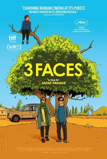 "Kinoplakat ""Three Faces"" von Jafar Panahi"