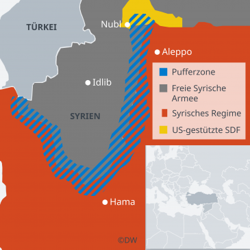 Infografik Provinz Idlib in Syrien; Quelle: DW