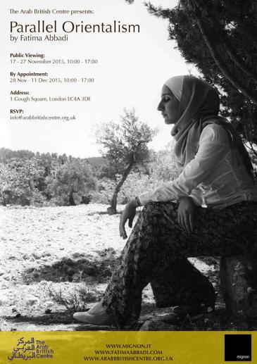 """Plakat der """"Tatreez""""-Foto-Ausstellung im Arab British Centre in London; Quelle: Fatima Abbadi Photography"""